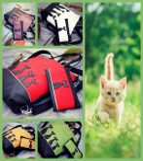 Boszorkány cicái táska+ tárca+ kártyatartó szett