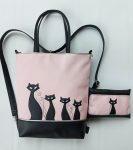Boszorkány cicái táska + pénztárca szett