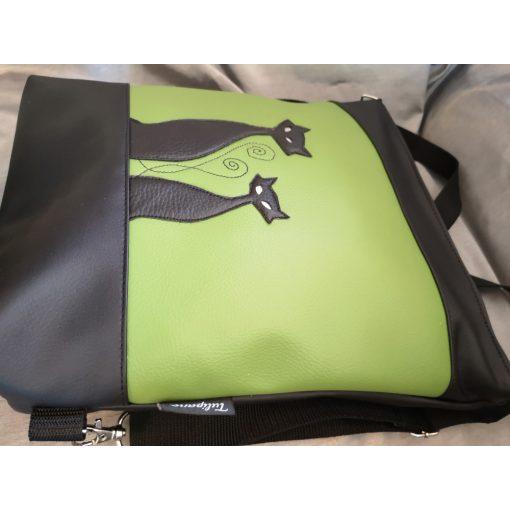 Szia Cicus 2 in 1 táska zöld